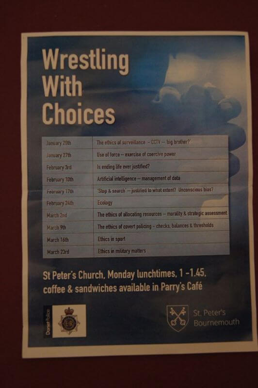 Wrestling With Choices Meeting